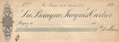 Jeffrey-Alexandre Rousseau a été gérant de la Banque Jacques-Cartier à Sainte-Anne-de-la-Pérade de 1885 à 1895.