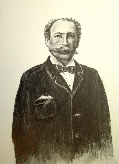 À l'époque des débuts de la photo, les esquisses en noir et blanc étaient encore très populaires.