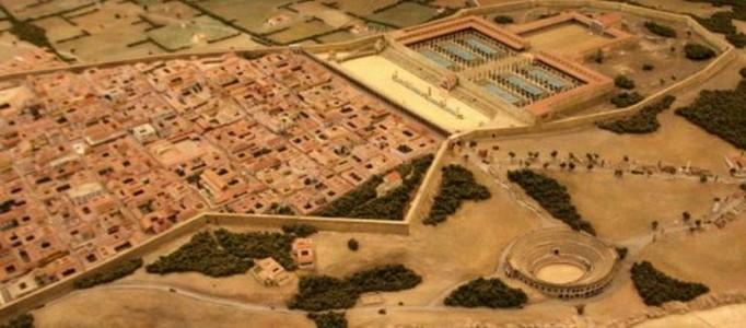 La ville de Tarragone (jadis la ville romaine de Tarraco) s&#39;organise autour de son forum provincial. Les Romains ont construit celui-ci en l&#39;an 73 apr&egrave;s JC.<br /><br />Photo :&nbsp;Maquette du Forum de Tarraco &agrave; l&#39;&eacute;poque romaine.
