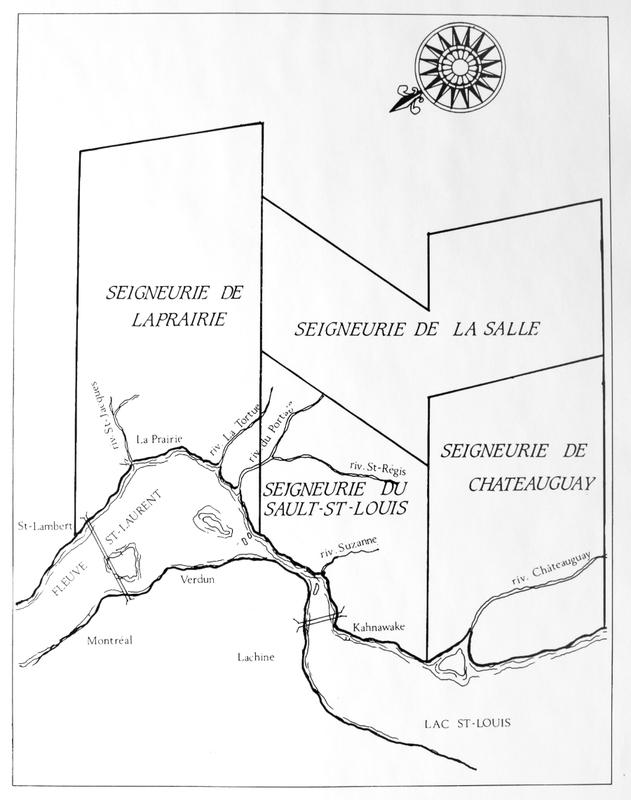 La seigneurie de La Prairie jouxtait la seigneurie de Longueuil &agrave; son extr&eacute;mit&eacute; nord-est.&nbsp;<br /><br />Conc&eacute;d&eacute;e en 1647, la vaste seigneurie de La Prairie-de-la-Magdeleine abrite, de 1667 &agrave; 1676,&nbsp;la mission am&eacute;rindienne Saint-Fran&ccedil;ois-Xavier-des-Pr&eacute;s fond&eacute;e par les J&eacute;suites.