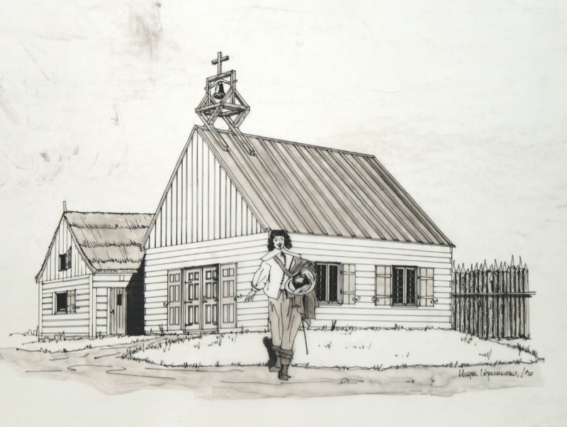Les Sulpiciens, seigneurs de l'île de Montréal, occupèrent la cure de La Prairie de 1686 à 1717.Humble bâtiment tout en bois, la première église catholique de La Prairie est terminée en 1686. Deux ans plus tard suit l'établissement d'un premier cimetière paroissial. Sous l'impulsion des fidèles, les travaux de construction d'une plus grande église en pierre ainsi que d'un presbytère commencent en 1704.