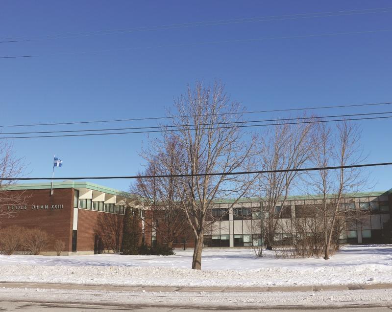 L'école Jean XXIII a été construite en 1963 à la demande des gens du quartier Christ-Roi.