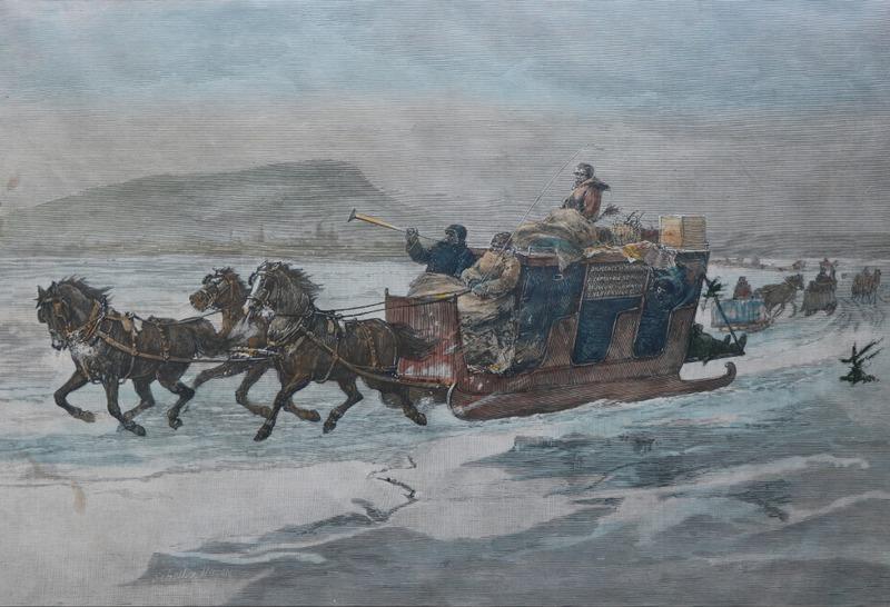 En 1800,&nbsp;la seigneurie de La Prairie et le reste du Bas-Canada comptent encore sur le fleuve St-Laurent - le &laquo;boulevard du pays&raquo; - pour se d&eacute;placer, et ce, tant en &eacute;t&eacute; qu&#39;en hiver, en plus de quelques autres chemins rudimentaires,<br /><br />Le &quot;pont de glace&quot; a permis aux citoyens de faire la travers&eacute;e du fleuve Saint-Laurent de d&eacute;cembre jusqu&rsquo;au d&eacute;but d&rsquo;avril,&nbsp;selon les al&eacute;as du climat,