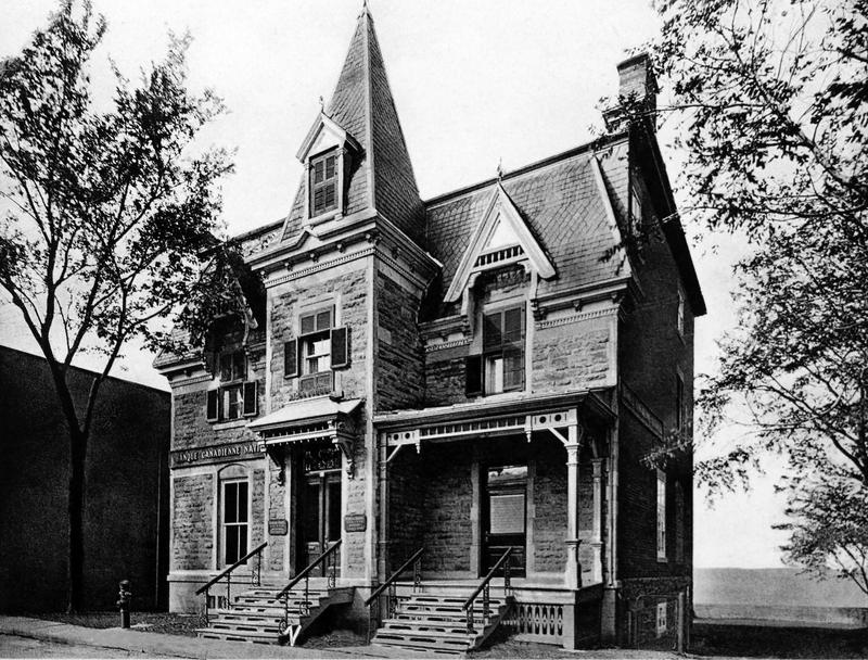En 1907, l&rsquo;ouverture de la premi&egrave;re succursale d&rsquo;une grande banque a favoris&eacute; l&rsquo;essor du commerce et des industries &agrave; La Prairie.<br /><br />Photo : la Banque d&rsquo;Hochelaga, devenue la Banque Canadienne&nbsp; Nationale.