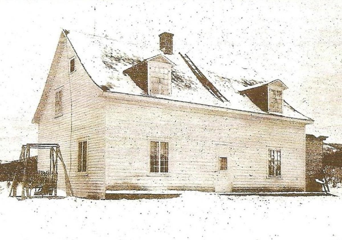 Maison d&rsquo;Augustin-Norbert Morin peu apr&egrave;s sa construction<br />Soci&eacute;t&eacute; d&rsquo;histoire et de g&eacute;n&eacute;alogie des Pays-d&rsquo;en-Haut