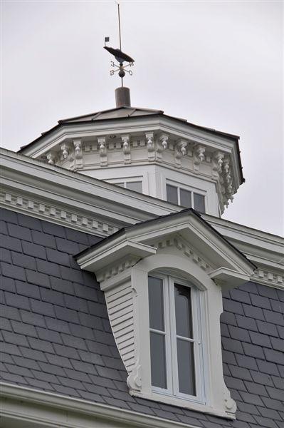 Tourelle octogonale sur le sommet de la maison Johnson.