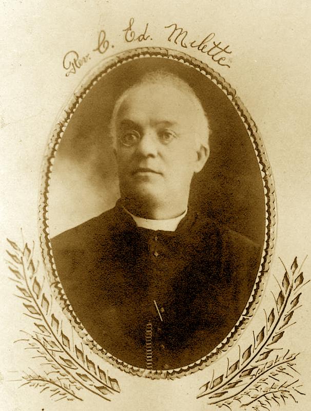 L'abbé Charles-Édouard Milette, premier curé résident de la paroisse.