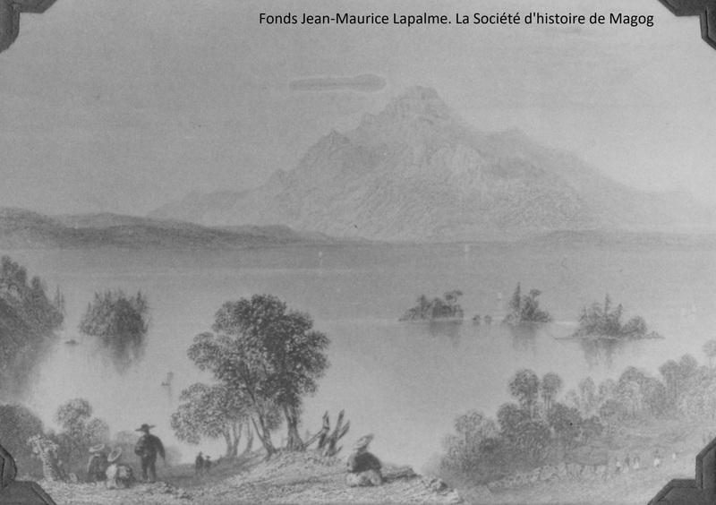 Ce secteur faisait autrefois partie du terrain de chasse et de pêche des Abénakis. La rivière Magog (jadis nomméeSekesoonotek)sert de décharge au lac et descend en rapides jusqu'à la rivière Saint-François (anciennement appelée Alsigantéka), laquelle se déverse dans le fleuve.