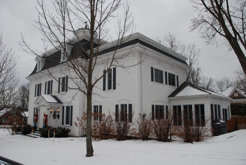 This style of architecture is distinguished primarily by the mansard roof, often enhanced with corbelling windows, decorated by scrolled brackets.<br /><br />The Second Empire style was very fashionable in residential construction, with adaptations made to accommodate domestic needs.