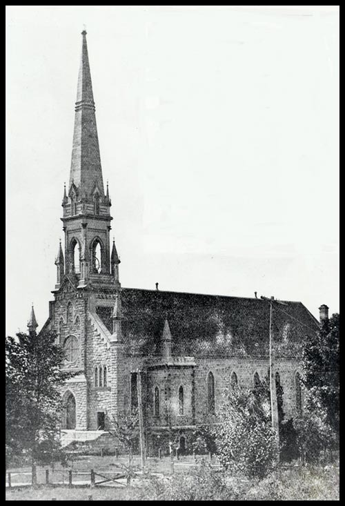 Ancient bell tower, before febuary 26, 1918 storm.<br /><br />http://saint-patrice.org