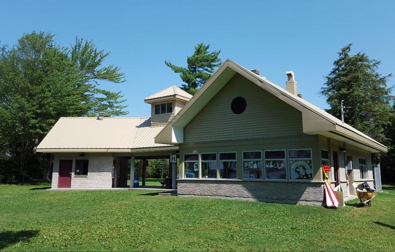 <p>La pavillon d&#39;accueil du parc.</p>