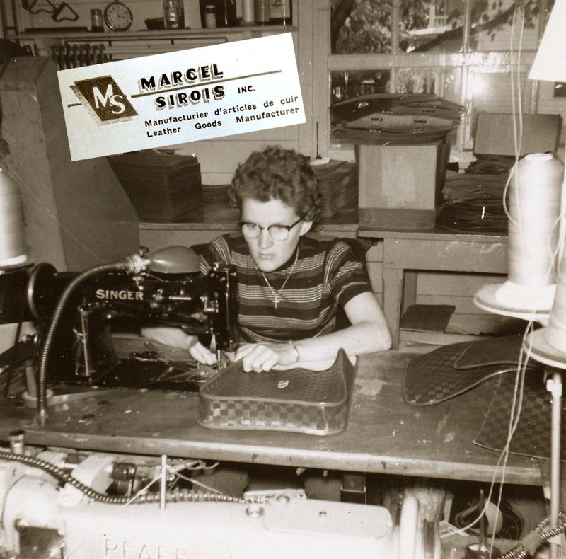 <p>Une couturi&egrave;re de la &laquo;shop&raquo; de Marcel Sirois.<br /><br />Marcel Sirois s&rsquo;int&eacute;ressait, depuis quelques ann&eacute;es, &agrave; la fabrication de sacs d&rsquo;&eacute;cole et avait am&eacute;nag&eacute; un atelier de travail dans l&rsquo;entrep&ocirc;t du magasin. Au d&eacute;but des ann&eacute;es 1950, dans sa shop de cuir, Marcel Sirois inc., il employait pr&egrave;s d&rsquo;une quinzaine de personnes de Cacouna.<br /><br />Source photo:<br />Coll. Lucienne Roy</p>