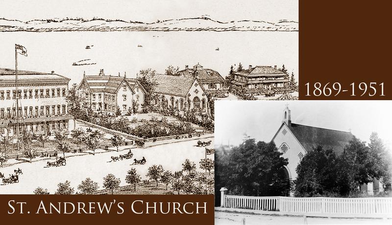 <p>St. Andrew Presbyterian Church.<br /><br />Fervent&nbsp; presbyt&eacute;rien, tout comme les Cook, Allan, Mackay, etc., monsieur Ross chargea Andr&eacute; Gingras de construire une &eacute;glise pour accueillir vill&eacute;giateurs et touristes.&nbsp; &Agrave; l&rsquo;automne 1869, l&rsquo;entrepreneur de Qu&eacute;bec chargeait le bois n&eacute;cessaire sur des go&eacute;lettes.&nbsp; Une douzaine d&rsquo;ann&eacute;es plus tard, l&rsquo;&eacute;glise fut c&eacute;d&eacute;e &agrave; la St. Andrew&rsquo;s Church de Qu&eacute;bec.&nbsp; Le d&eacute;part de nombreuses familles anglophones en entra&icirc;na la fermeture en 1951 et la d&eacute;molition peu de temps apr&egrave;s.<br /><br />Source photo:<br />Coll. Yvan Roy<br />Dessin d&#39;Eugene Haberer, d&eacute;tail d&rsquo;un d&eacute;pliant publicitaire du St. Lawrence Hall, 1901, coll. Mus&eacute;e du Ch&acirc;teau Ramezay, Montr&eacute;al</p>