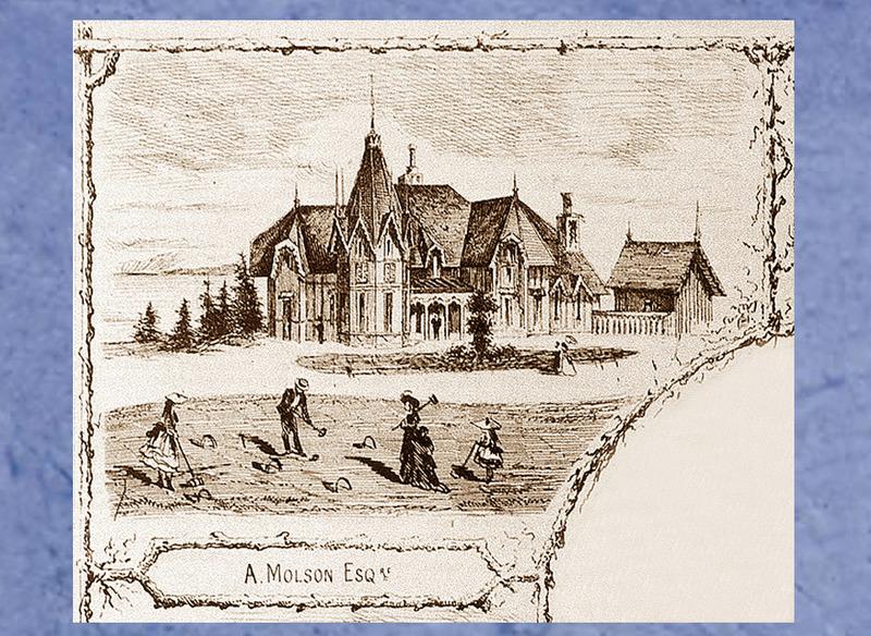<p>Pine Cottage, propri&eacute;t&eacute; de William Markland Molson.<br /><br />Ce petit ch&acirc;teau d&rsquo;aspect m&eacute;di&eacute;val surprend dans le paysage du Bas-Saint-Laurent.&nbsp; Son architecture rural gothic, caract&eacute;ris&eacute;e par la petite tourelle et les fen&ecirc;tres en ogive, est irr&eacute;sistible.<br /><br />La famille Molson avait fond&eacute; une brasserie &agrave; Montr&eacute;al, en 1786, et elle avait acquis des int&eacute;r&ecirc;ts dans les secteurs bancaire et maritime par la suite. En 1863, William Markland, l&rsquo;un des membres de la c&eacute;l&egrave;bre famille, chargea un architecte montr&eacute;alais, John J. Browne, de dresser les plans de la premi&egrave;re maison d&rsquo;&eacute;t&eacute; de Cacouna et d&rsquo;en superviser la construction.&nbsp; M. Browne suivait les traces de son p&egrave;re, George, chef de file du mouvement pittoresque qu&eacute;b&eacute;cois, qui avait popularis&eacute; le style n&eacute;ogothique au cours des ann&eacute;es 1840.&nbsp; George Browne avait d&rsquo;ailleurs dessin&eacute; des cottages pour d&rsquo;autres membres de la famille Molson ainsi que l&rsquo;&eacute;difice de la banque &agrave; laquelle ils ont donn&eacute; leur nom.&nbsp; On dit que ce petit ch&acirc;teau fut pr&eacute;fabriqu&eacute; &agrave; Montr&eacute;al pour &ecirc;tre transport&eacute; sur des go&eacute;lettes, en pi&egrave;ces d&eacute;tach&eacute;es pr&ecirc;tes &agrave; &ecirc;tre assembl&eacute;es.&nbsp; Les larges planches de pin qui recouvrent les murs int&eacute;rieurs et ext&eacute;rieurs lui ont valu le nom de Pine Cottage.<br /><br />Source photo:<br />Gravure d&#39;Edward Jump, 1872, d&eacute;tail (Carte #2, Cacouna Illustr&eacute;, 2001)<br />&nbsp;</p>