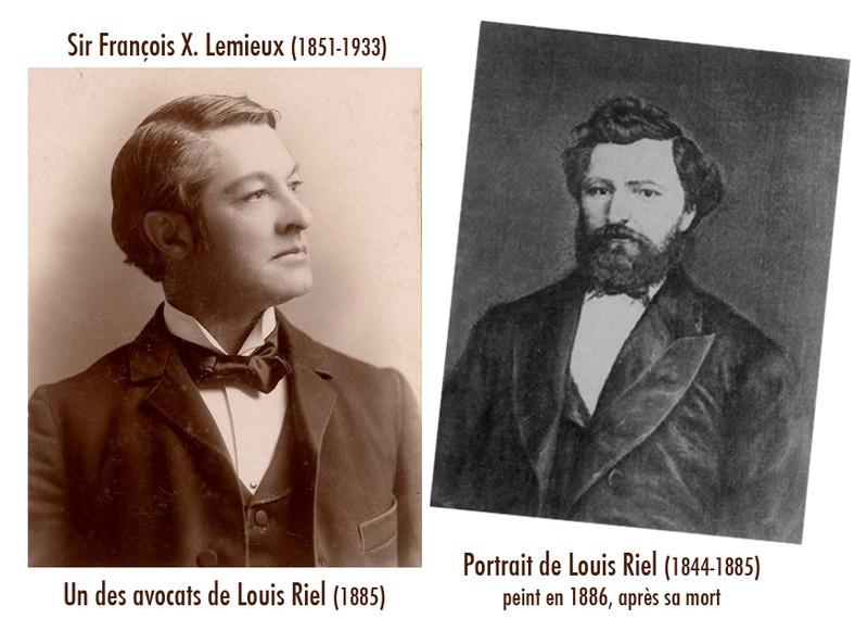 <p>Louis Riel et Fran&ccedil;ois-Xavier Lemieux.<br /><br />Lorsque Fran&ccedil;ois-Xavier Lemieux, sous-ministre provincial des Terres et For&ecirc;ts, acheta la propri&eacute;t&eacute;, en 1939, il fit r&eacute;nover la maison par son voisin, le menuisier Alphonse B&eacute;rub&eacute;.&nbsp; La famille Lemieux avait plusieurs fois s&eacute;journ&eacute; dans une autre maison du village quand Fran&ccedil;ois-Xavier &eacute;tait jeune.&nbsp; Pendant ses vacances, le jeune homme descendait parfois de Qu&eacute;bec &agrave; bicyclette pour venir rejoindre les siens.&nbsp; Son p&egrave;re, Sir Fran&ccedil;ois X. Lemieux (que l&rsquo;on peut voir sur la photo), avait &eacute;t&eacute; l&rsquo;un des avocats de Louis Riel, en 1885, et il fut juge en chef de la cour sup&eacute;rieure de la province de Qu&eacute;bec, de 1911 &agrave; 1932.&nbsp; Ce sont les Lemieux qui baptis&egrave;rent La Sapini&egrave;re, cette villa qu&rsquo;ils conserv&egrave;rent pendant 20 ans et o&ugrave; ils accueillirent de nombreuses personnalit&eacute;s du monde politique.<br /><br />Source photo:<br />Portrait de Louis Riel, peint en 1886 (apr&egrave;s sa mort), Archives de l&rsquo;Universit&eacute; du Manitoba, r&eacute;f&eacute;rence # PC 107<br />Photographie de Sir Fran&ccedil;ois X. Lemieux</p>