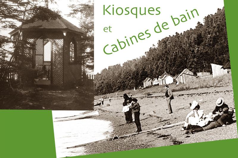 <p>Kiosques et cabines de bain.<br /><br />Comme c&rsquo;est le cas pour la plupart des villas de l&rsquo;&eacute;poque, on trouve des kiosques au bord de la falaise offrant une vue sur la mer et des cabines de bain en bordure de la plage.<br /><br />Source photo:<br />Kiosque : Mary Tudor Montizambert, coll. David Crombie<br />Plage et cabines de bain : Archives Nationales du Qu&eacute;bec, Fonds Livernois (P560/N-675-42)</p>