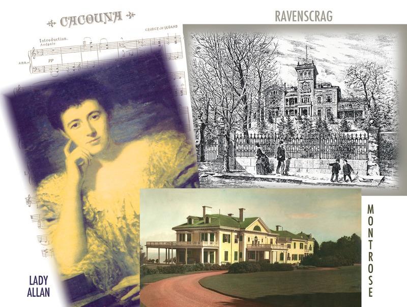 <p>Ravenscrag, somptueuse demeure des Allan &agrave; Montr&eacute;al, et Montrose, avec son h&ocirc;tesse, Lady Allan<br /><br />&Agrave; Montr&eacute;al, les Allan recevaient de nombreux invit&eacute;s de marque dans leur somptueuse demeure, Ravenscrag.&nbsp; &Agrave; Montrose, Lady Allan organisait une ronde de r&eacute;ceptions et de concerts qui l&rsquo;amenait &agrave; embaucher une vingtaine de domestiques.&nbsp; Son &eacute;poux et elle accueillirent notamment quatre gouverneurs g&eacute;n&eacute;raux du Canada, dont&nbsp; le vicomte Wellington, en 1929 et Lord Bessborough, en 1932.<br /><br />Source photo:<br />Ravenscrag : L&rsquo;Opinion Publique, 12 d&eacute;cembre 1872, p.594<br />Montrose : Lavoie photo Enr. Rivi&egrave;re-du-Loup, coll. Maison de pri&egrave;re Le C&eacute;nacle</p>