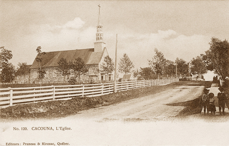 <p>The church before the 1892 alterations.<br /><br />The church was built in two stages. In 1840, the walls began to go up using local fieldstones and lime provided by the parishioners, but construction was soon halted and did not resume until five years later. Nevertheless, it opened for worship in 1848. It is not known who drew the plans for the nave leading to a narrower chancel and ending in a straight chevet, with its adjoining sacristy. The sober facade rises to an elegant steeple comprised of two lantern turrets and a tapered spire. Although the Saint-Georges church closely resembles those designed by the architect Thomas Baillairg&eacute;, historian G&eacute;rard Morisset attributes it to Louis-Thomas Berlinguet. Moreover, Fran&ccedil;ois-Xavier Berlinguet, an architect sculptor like his father, is known to have done the church interior between 1852 and 1857.<br /><br />Photo source :<br />Archives nationales du Qu&eacute;bec, Livernois Collection (P5603/N-1076-163)</p>