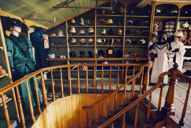<p>An exhibition on the theme of La Belle &Eacute;poque era, presented at the launch of the heritage walk in 1994. Fine lingerie, goodly hats and an assortment of tailoring tools and materials were sold on the top floor, around 1910.<br /><br />Photo source :<br />Photo : Denis Pelletier</p>