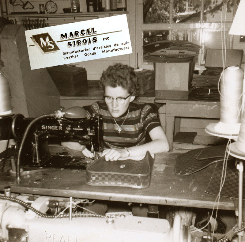 <p>A seamstress in the workshop of Marcel Sirois.<br /><br />Marcel Sirois had also been interested in making school bags for several years, and eventually set up a workshop in the store&rsquo;s warehouse. His leather shop, Marcel Sirois inc., employed some fifteen people in the early 1950s.<br /><br />Photo source :<br />Lucienne Roy Collection</p>