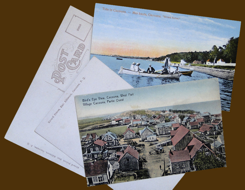 <p>Postcards Rivard Series.<br /><br />For many years, summer visitors to Cacouna could share their holiday experience with friends and family by choosing Rivard Series postcards from the display at the lunch counter. Aim&eacute; Rivard created the collection in the 1910s, when he was a clerk in his father Eus&egrave;be&rsquo;s store. He continued producing the postcards and, in the mid-1920s, teamed up with his brother Paul-&Eacute;mile as Rivard Fr&egrave;res Enr. People throughout the province and beyond discovered the beautiful village of Cacouna from these postcards featuring photographs of the area. To offer images in colour, Aim&eacute; Rivard sent some of his photos to Germany for printing. As both photographer and publisher, he continued to offer the Rivard Series and A. Rivard postcards until the 1940s.<br /><br />Photo source :<br />Yvan Roy Collection</p>