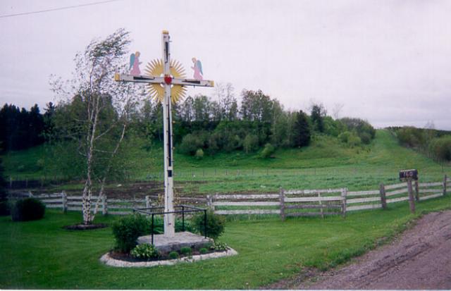 <p>Une fois par ann&eacute;e, les citoyens viennent se recueillir devant cette croix pour c&eacute;l&eacute;brer la messe.</p>
