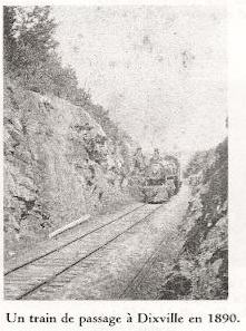 <p>The arrival of the railway was an important factor in the development of Dixville. Local products could be distributed more widely and grain could be brought in. It was decisive in the establishment by Richard Baldwin of the first general store in town. Richard was the cousin once removed of Bruce.</p>