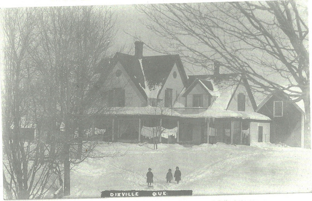 <p>In 1874, Bruce Baldwin and family settled in the village of Dixville. Their house was built at 315 chemin Parker.</p>