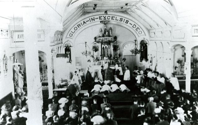 <p>A view of the interior of the former church. Mrs Genest was the organist and director of the choir for many years.</p>