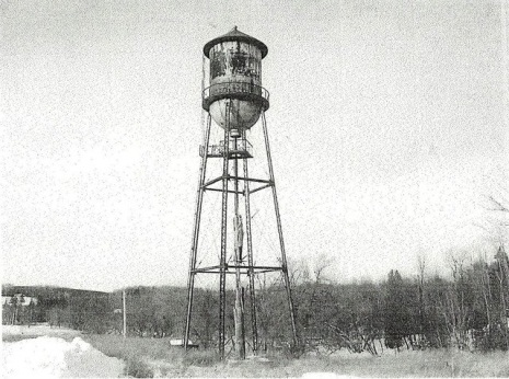 <p>The landmark water tower has become the emblem of industrial Waterville. In the past, it supplied water to many of the manufacturing concerns in the town.</p>