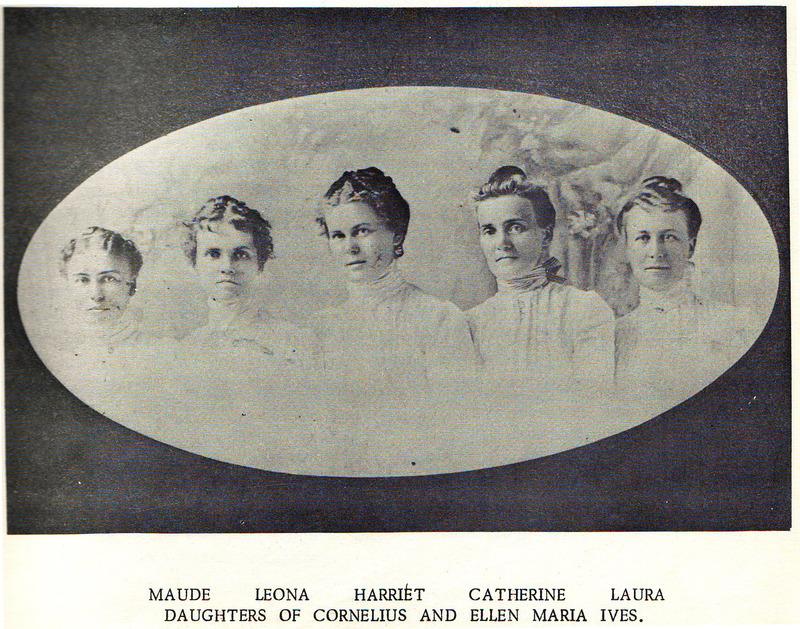 <p>Les cinq enfants que Cornelius et Ellen ont eus &eacute;taient des filles. Maude, Leona, Harriet, Catherine et Laura sont toutes n&eacute;es dans les ann&eacute;es 1800.</p>