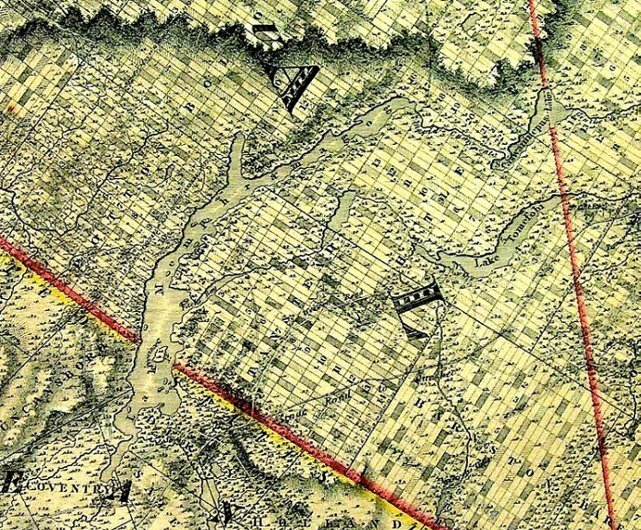 <p>The Massawippi Valley Railroad was one of the first trains to go through the territory of Stanstead. This map comes from the cartography of that period.</p>