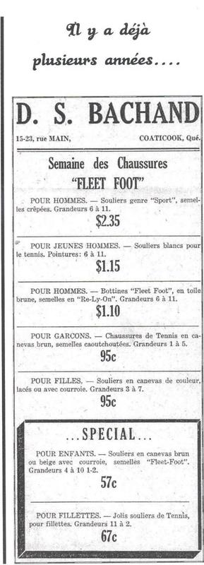 <p>Thanks to its large surface and its varied inventory, different savings and big promotions were frequent. This promotional poster of the &quot;Shoes Week&quot; proves it.</p>