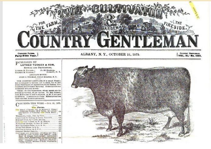 Albert Ball, le grand-père d'Henrietta, prend possession de la ferme ancestrale au décès d'Erastus Lee en 1866. Il élève des animaux de race tout en gérant la succursale locale de la Eastern Townships Bank. En 1875, son taureau Ayrshire se trouve à la une du journal américain Country Gentleman. Erastus, le fils d'Albert et oncle d'Henrietta, un vétérinaire réputé, poursuivra la tradition d'élevage de Lee Farm.