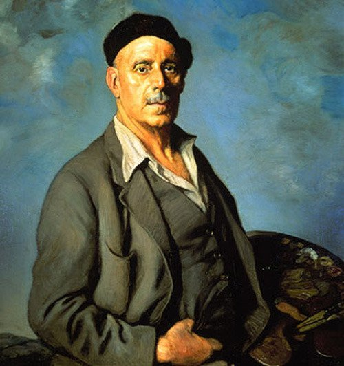 <p>The painter Ignacio Zuloaga was born in 1870 at Eibar in the Basque Country. Son of a inlay worker, he was immersed very young in the artistic world. He was educated by the Jesuits and, extremely talented, started exhibiting in 1887.<br /><br />At the Museo del Prado, he copied Spanish painters like Vel&aacute;zquez or El Greco and consider Zurbaran, Ribera or Goya like his masters.<br /><br />In 1890, he settled in Paris where he worked with Eug&egrave;ne Carri&egrave;re. He met Toulouse-Lautrec, Gauguin, Degas, Jacques-Emile Blanche and exhibited at the Salon that year. Between 1890 and 1894, he is very attached to Gaugin and Emile Bernard. His palette brightened and seemed to be influenced by Impressionism.<br /><br />In 1898, Zuloaga moved to Segovia and lived with a family member, Daniel Zuloaga (1852-1921), one of the greatest Spanish ceramists at the time. The colors of his paintings then became darker.</p>