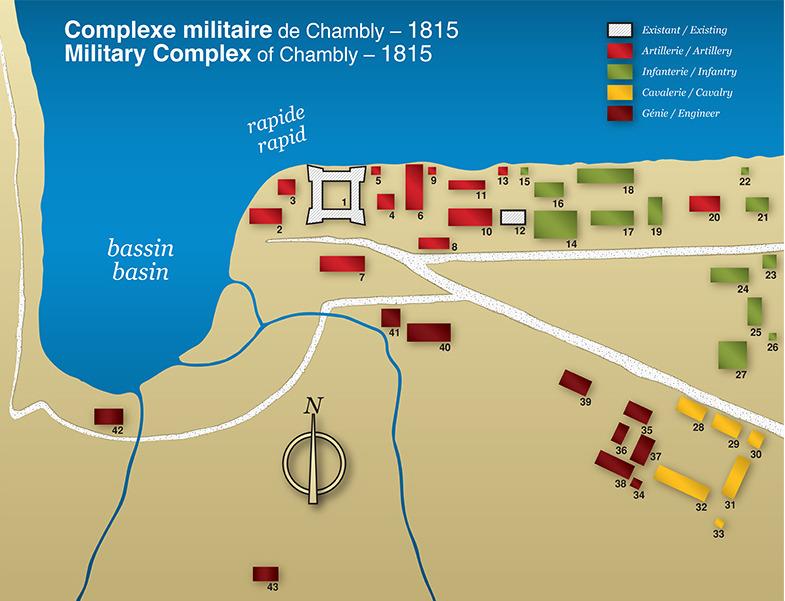 <p>La Banlieue du fort et l&rsquo;occupation militaire<br />2000, avenue Bourgogne<br /><br />Le fort est construit en bois par Jacques de Chambly, en 1665. Depuis 1711, date de construction de l&rsquo;actuel fort de pierre, aucune maison, ni cl&ocirc;ture n&rsquo;&eacute;tait tol&eacute;r&eacute;e dans l&rsquo;espace compl&egrave;tement d&eacute;bois&eacute; qui l&rsquo;entoure o&ugrave; rien ne devait permettre &agrave; l&rsquo;ennemi de se cacher. Connu ici sous le nom de la &laquo;Banlieue du fort&raquo;, ce champ est rest&eacute; &agrave; d&eacute;couvert pendant 100 ans. C&rsquo;est seulement vers 1871 que le gouvernement f&eacute;d&eacute;ral vendra des lots aux civils. Carte : Parcs Canada</p>