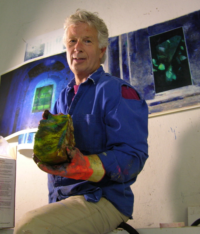 <p>The artist, Gordon Halloran, started his career as an illustrator, and in 1979 held his first solo show of paintings at the Toronto Gallery (formally known as the Nancy Poole Studio). Halloran taught classes at the Ontario College of Art and Design before moving to BC in 1989. In recent years, Halloran has become known to an international audience as the creator of Paintings Below Zero, monumental public art installations assembled from painted sheets of ice.</p>
