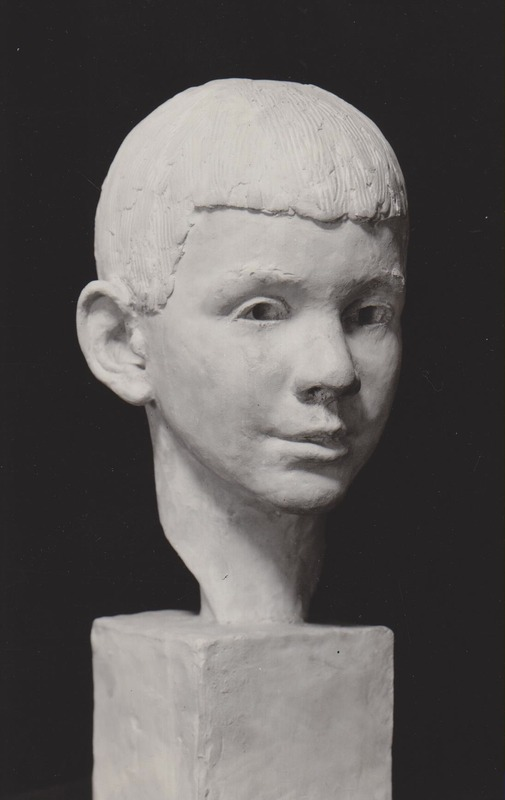 <p>Bust of Christopher Plummer as a child, by Orson Wheeler | Canadian actor Christopher Plummer was born in Toronto in 1929. He is popularly known for his role as Captain Von Trapp in the musical The Sound of Music.</p>