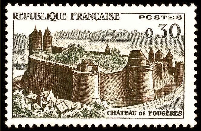 <p>Le ch&acirc;teau sur les timbres du service postal. Cette forteresse figure parmi les fortifications du Moyen &Acirc;ge les mieux conserv&eacute;es en Bretagne.&nbsp;</p>