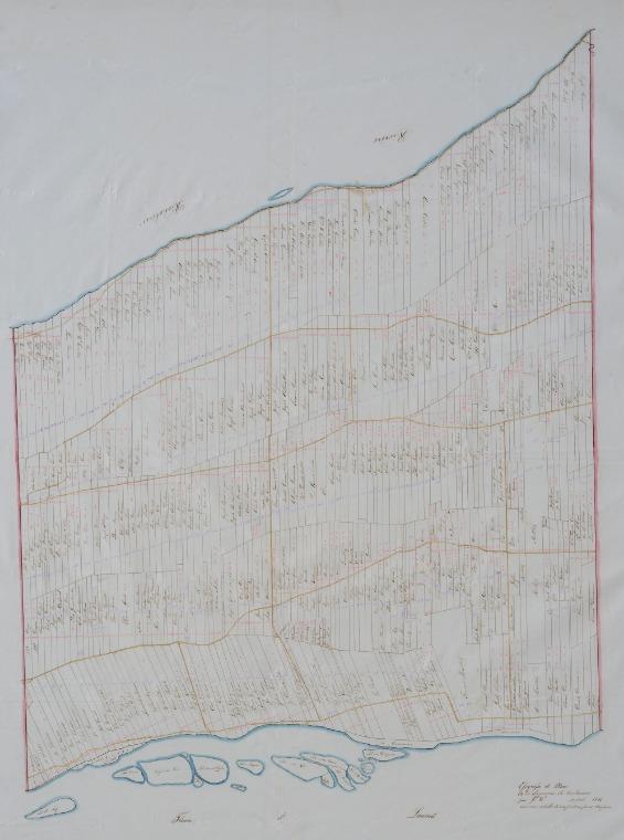 <p>Une carte authentique de la seigneurie datant de 1841, encore utilis&eacute;e au&nbsp;d&eacute;but du si&egrave;cle dernier par la derni&egrave;re seigneuresse.</p>