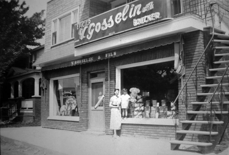 <p>L&#39;ancienne boucherie Gosselin, situ&eacute;e au 509, rue St-Antoine. Aux dires de certains, la boucherie aurait fait de tr&egrave;s bonnes affaires &agrave; l&rsquo;&eacute;poque o&ugrave; la Colonie des Gr&egrave;ves vivait son &acirc;ge d&rsquo;or.</p>
