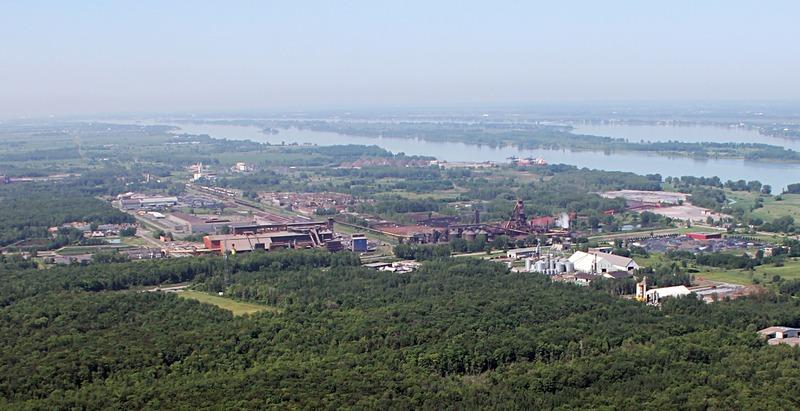 <p>Photo a&eacute;rienne du parc industriel.</p>