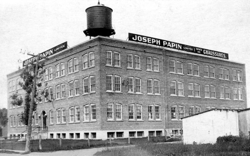 <p>L&#39;usine de Joseph Papin apr&egrave;s agrandissement.</p>