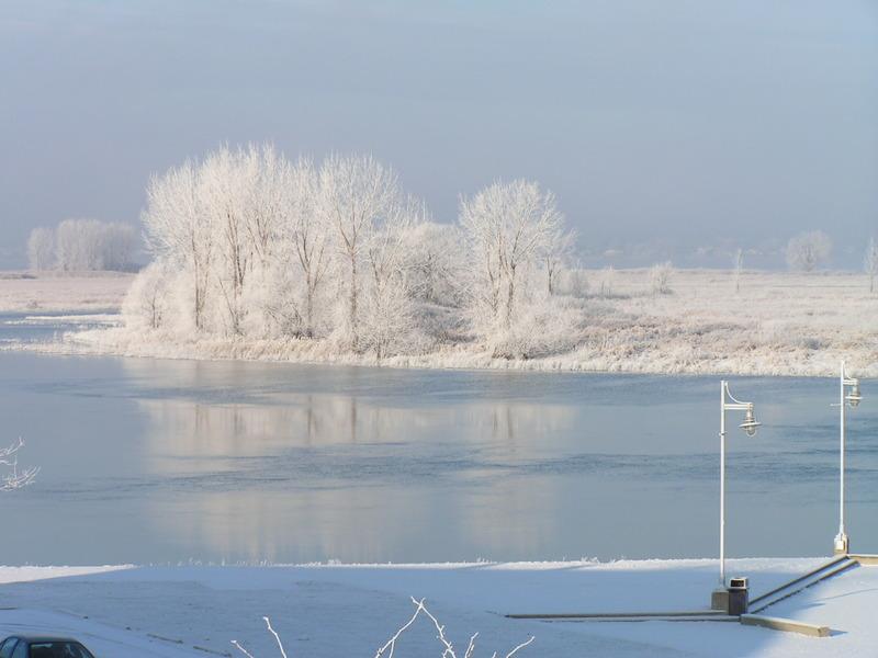 <p>Les &icirc;les de Contrecoeur&nbsp;recouvertes de neige.</p>