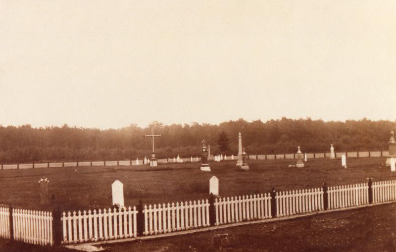 <p>Une photo du&nbsp;cimeti&egrave;re, prise en 1905.</p>