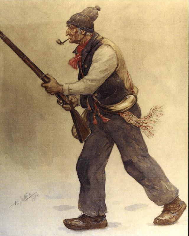 <p>L&#39;illustration d&#39;un brave patriote, par Henri Julien.</p>