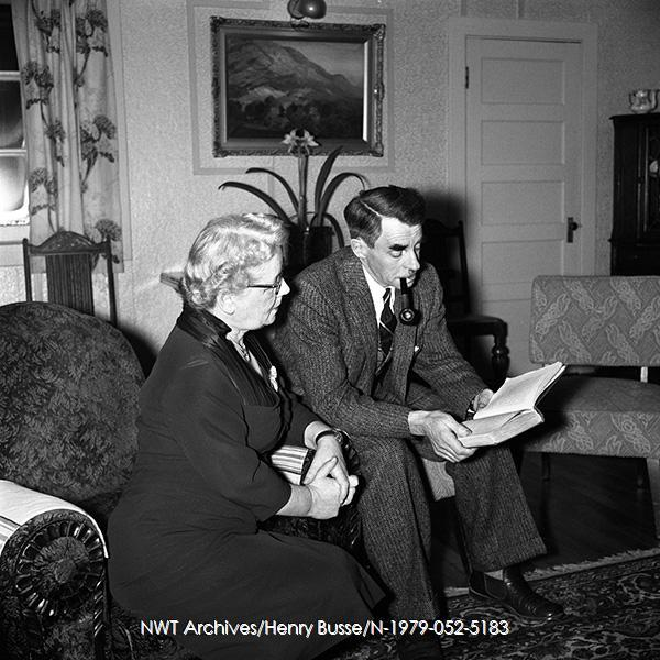 <p>John and Janet Anderson Thomson in 1957.<br /><br />Photo source: NWT Archives/Henry Busse/N-1979-052-5183.</p>