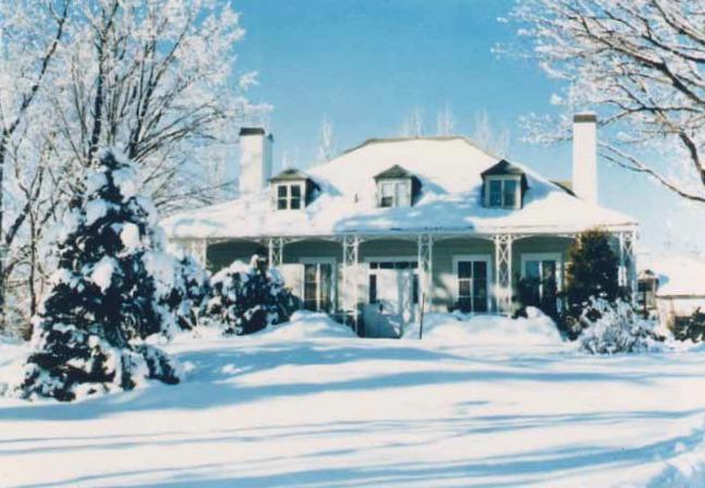<p>&copy; Ville de Qu&eacute;bec<br /><br />La maison Hamel-Bruneau, en hiver.</p>